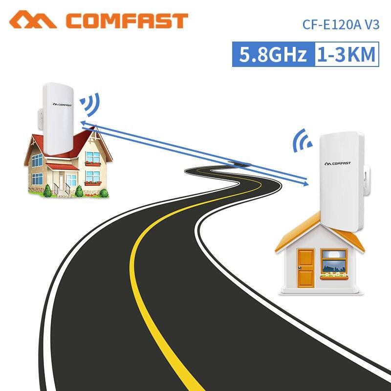 2 pièces 5.8 ghz sans fil extérieur CPE longue portée 300 Mbps routeur Wifi industriel 2 * 14dbi antenne 3 KM sans fil point à point pont AP