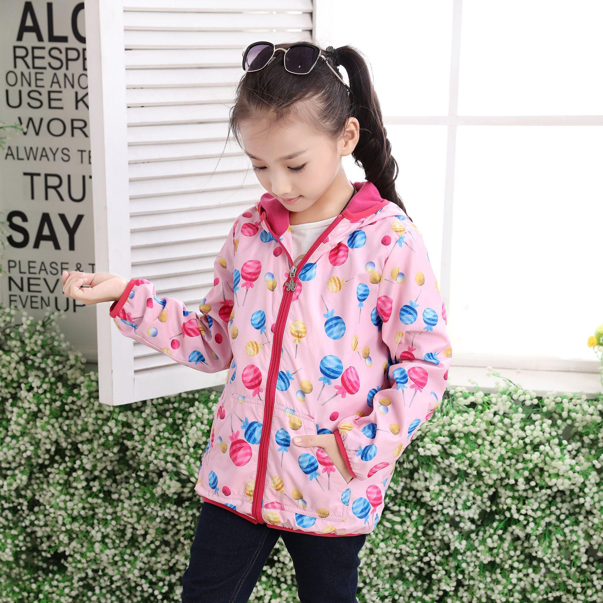 Nuevo 2017 primavera otoño niños bebés niñas chaquetas florales - Ropa de ninos