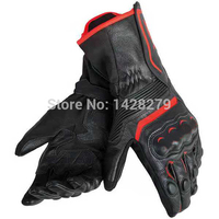 Free shipping 2019 Dain Assen Leather Glove Black/White Motorcycle/Bike/Motorbike Riding Curved Fingers Gloves Racing Glove