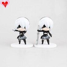 Love Thank You NieR Automata YoRHa No2 Type B 2B cute VideoGame PVC Anime figure toy