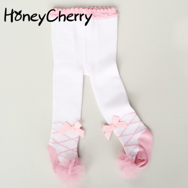 1467959fc258 Ballet Children s Dance Leggings Baby Pantyhose Lace Princess Bottom ...