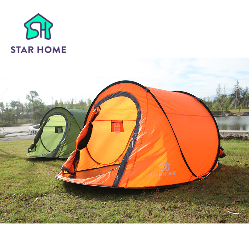 STAR HOME 2.5kg Automatic Open 3-4 Person Camping Tent Large Space  Instant Pop up Throw Outdoor Backpacks Tent 3 Colors shengyuan outdoor water resistant automatic instant setup two doors 3 4 person camping tent with canopy