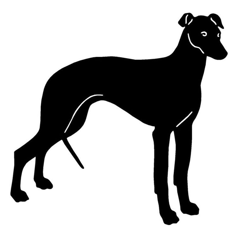13*12.7CM Greyhound Dog Car Stickers Personality Vinyl Decal Car Styling Truck Decoration Black/Silver S1-0954