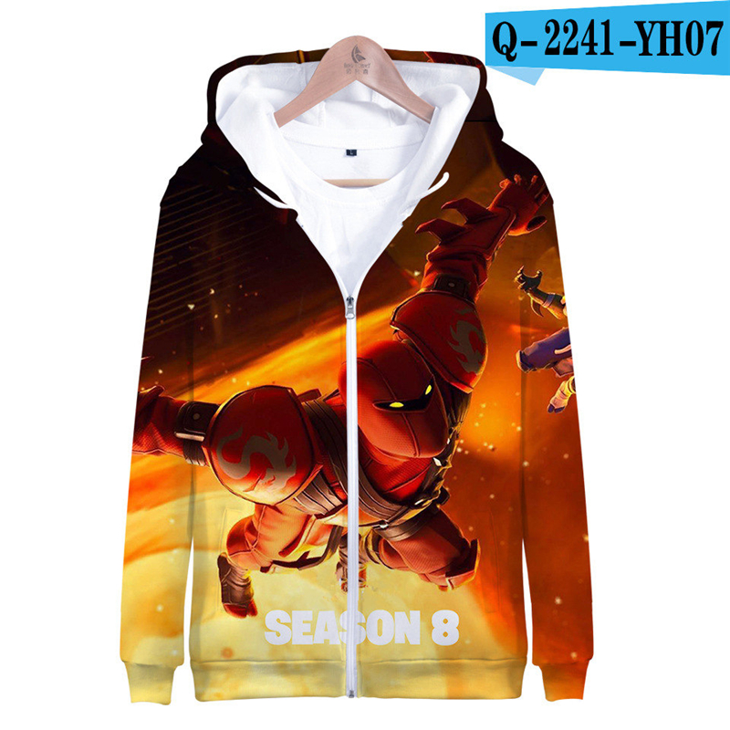 3D Hoodie Fortnight Game Tracksuit 3D Print Women Clothes Fornit Zip Up Game Clothes Popular Clothing Women Clothing Zipper Price $21.98