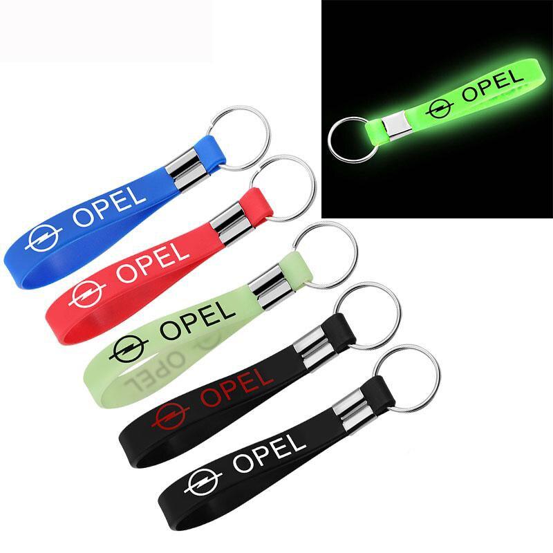 New Car Sticker Silicone Emblem Badge Car Keychain Key Ring For OPEL Corsa Insignia Astra Antara Meriva Car Styling Accessories
