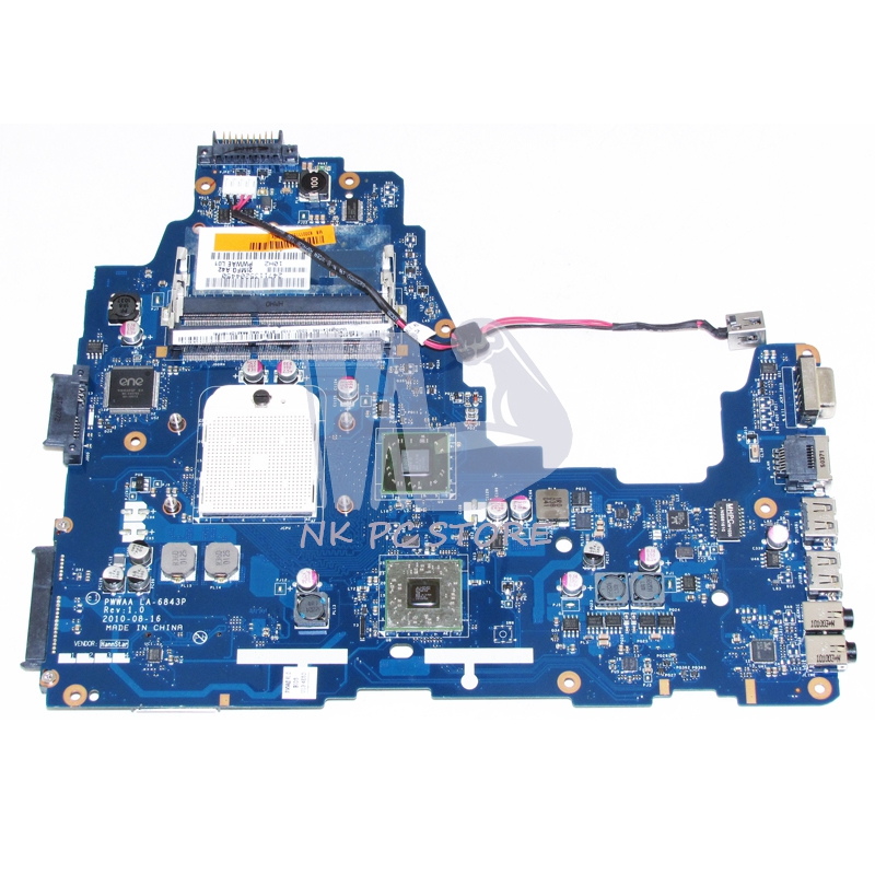 K000111550 Main Board For Toshiba Satellite C660 A660 A665 Laptop motherboard PWWAA LA-6843P Socket s1 Free CPU DDR3 v000225070 main board for toshiba satellite c650 c655 laptop motherboard 1310a2355303 gm45 ddr3 free cpu