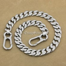 16″~36″ Heavy 316L Stainless Steel Mens Biker Rocker Punk Wallet Chain 5T014WC