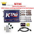 Top quality K-TAG(KTAG) HW:6.070,SW:2.11(500 tokens writing,reading is no limit token) ECU Programming Tool with free DHL ship