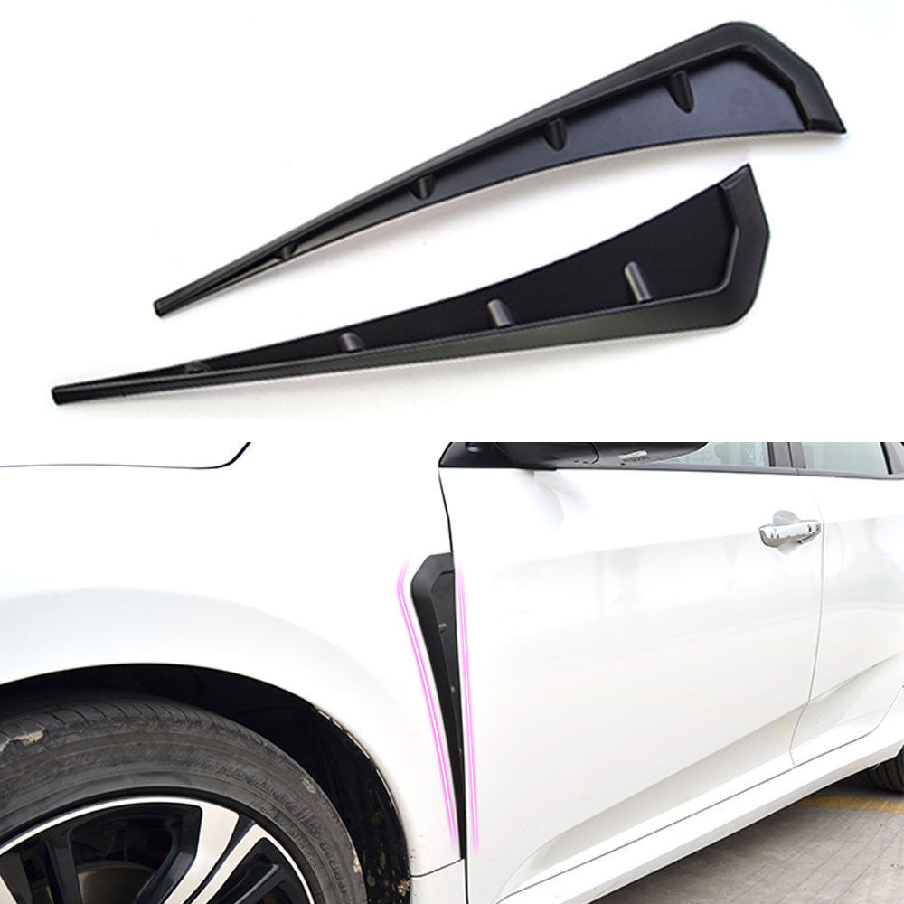 For Honda Civic 10th 2016 2017 2018 2pcs ABS Car Front Wheel Side Vent Fender  Trim Shiny/Matte Black Decorative Accessories-in Chromium Styling from ...