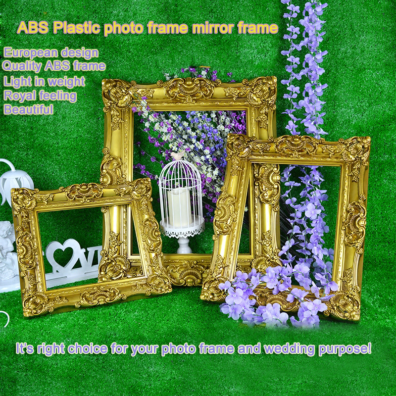 Antique gold photo frame plastic picture frame picture frame wedding antique gold photo frame plastic picture frame picture frame wedding decoration fashion married props supplies in frame from home garden on aliexpress junglespirit Choice Image