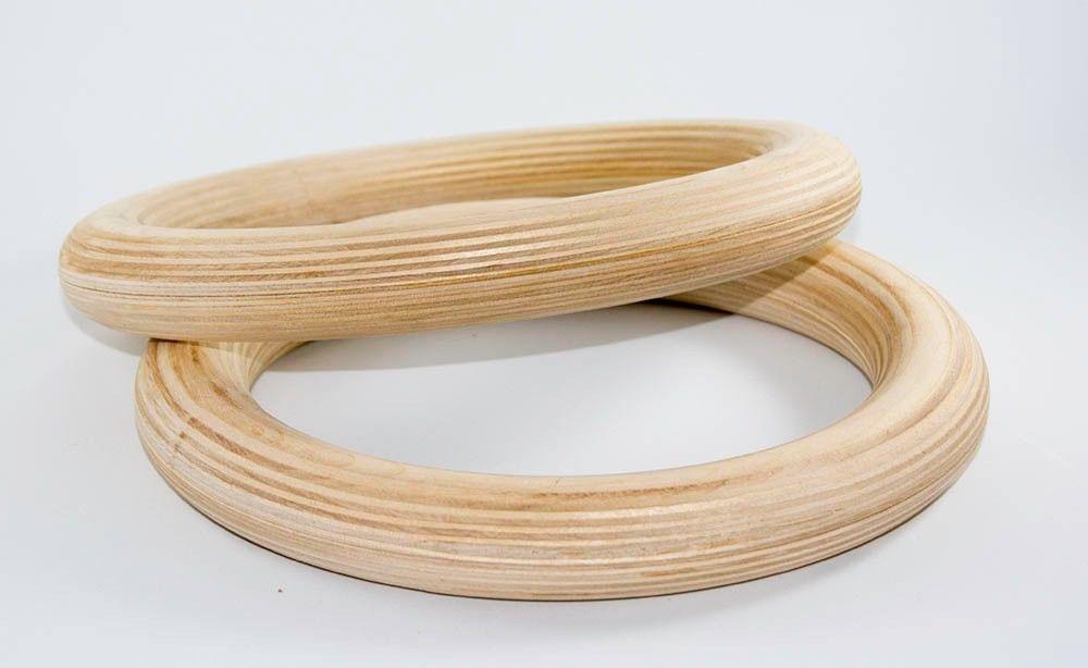 32mm Taxta Gimnastik Üzüklər Çiyin Gücü Təlimi İdman Zalı - Fitness və bodibildinq - Fotoqrafiya 2