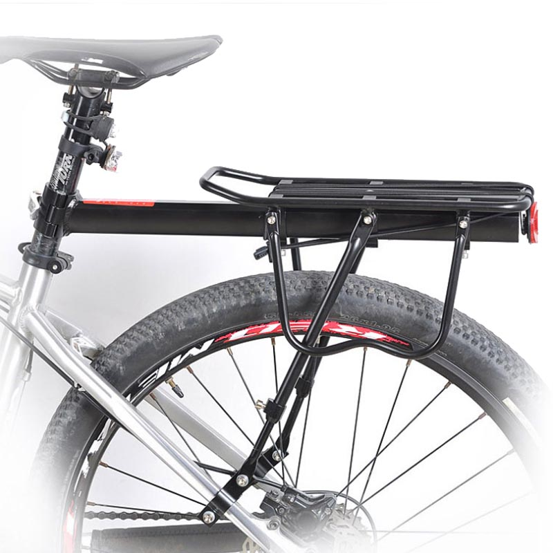 Bicycle Luggage Carrier Cargo Rear Rack Shelf Cycling Seatpost Bag Holder Stand for 20-29 inch Bikes Saddle Bags Holder Stand generic 2 3 5l bicycle saddle bag cycling rear bag