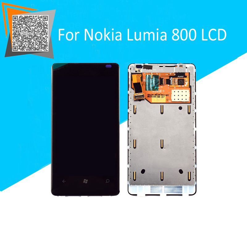 NEW Original for Nokia Lumia 800 LCD Display Touch Screen with Frame Full Assembly Black Replacement Parts
