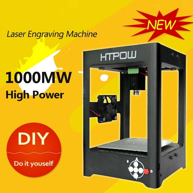 HTPOW Mini DIY Alloy 1000mW Laser Engraving Machine SuperCarver Carving Machine Laser Printer Engraver Laser Cutter Engraving