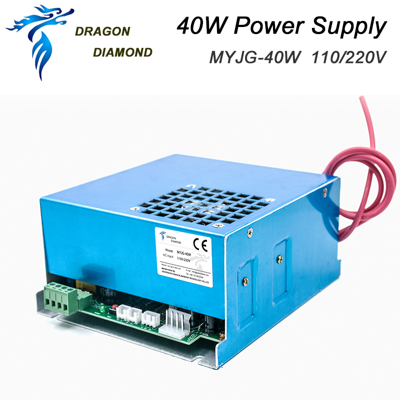 40W CO2 Laser Power Supply For 40W CO2 Laser Tube 110V / 220V For Laser Engraving And Cutting Machine MYJG Series
