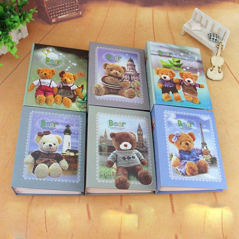 Симпатичный Медведь Европейский стиль Искусства Фотоальбомы Уникальный Подарок Автограф Альбом для Любовника Детские Свадебные Наклейки 50 Страниц X-9