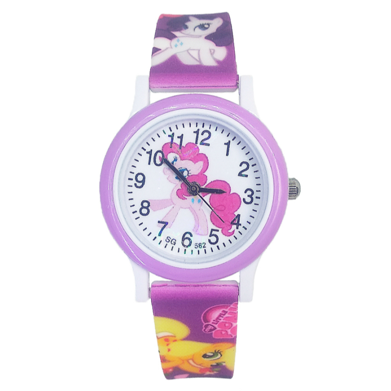 2019 Dropshipping Cartoon Horse Watch Children Kids Watches Silicone Quartz Baby Clock For 2-10 Year Old Boys Girls Baby Gifts
