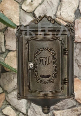 Rustic Aluminium alloy Mail Box Mailbox Metal Letters Post Box Wall Mounted Postbox Country Home Decor Garden Yard Supplies