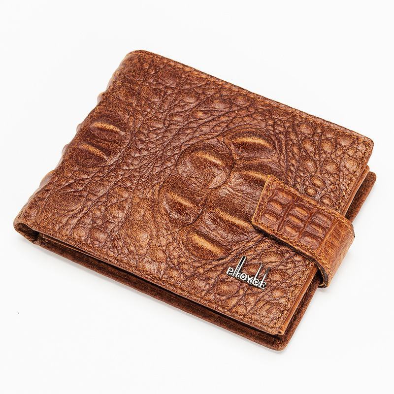 crocodile women short Wallet Alligator Pattern genuine cowhide leather male Purse coin pocket vintage lady clutch bag for girl 2017 genuine cowhide leather brand women wallet short design lady small coin purse mini clutch cartera high quality