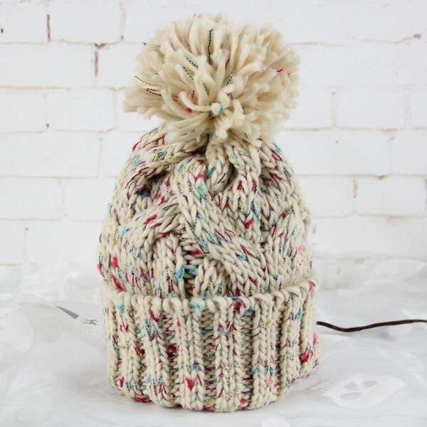 ᗕBomhcs mujeres moda invierno cálido crochet Beanie 100% hecho a ...
