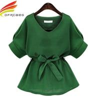 European Street Style Summer 2016 Fashion Shirt Cotton Linen Blouse For Women Short Sleeve Ladies Tops