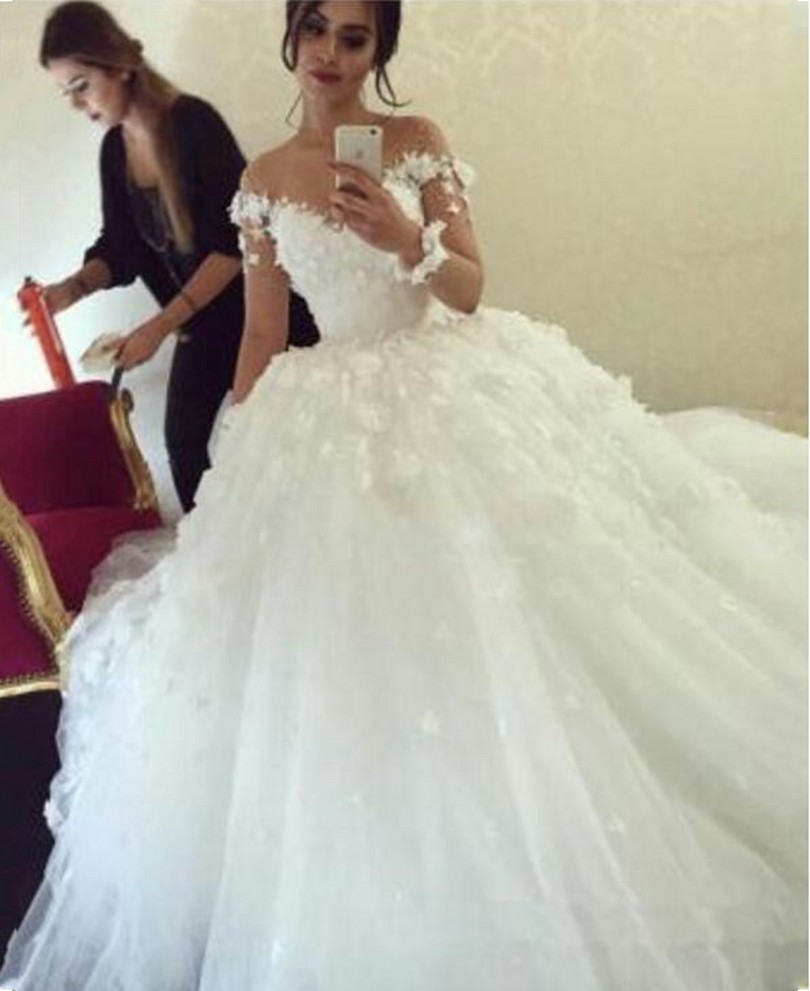 Online Buy Wholesale fairytale wedding dresses with sleeves from ...