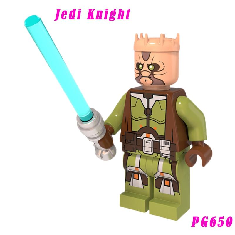 Kao Cen Darach Jedi Knight With Blue-Bladed Lightsaber Building Block 75025 Jedi Defender-Class Cruiser Toy Bricks Pg650