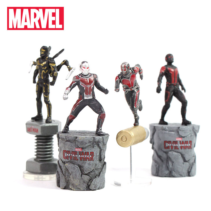 5-7cm Marvel Toys Avengers Endgame Mini Ant man Wasp Yellowjacket PVC Action Figures Superhero Collectible Model Doll Toy Antman(China)