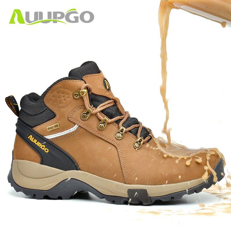 2019 جديد الخريف الشتاء عالية حذاء للسير مسافات طويلة احذية رياضية الرجال للماء في الهواء الطلق تنزه الأحذية حذاء الثلج عالي الرقبة دافئ-في أحذية رجالية غير رسمية من أحذية على  مجموعة 1