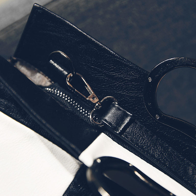 Women Handbags big hit color stitching pu handbag new winter European and American fashion shoulder bag Korean women Handbags