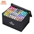 Набор маркеров для рисования  108 цветов  спиртовой фломастер  мультипликационные граффити  двусторонние скетч-маркеры