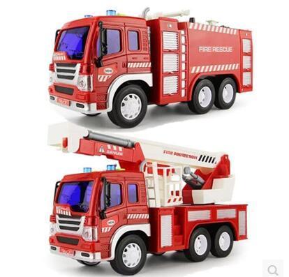 1:16 coche de juguete de inercia coche de ingeniería camión de Bomberos camión de bomberos coche de la música Grande muchacho niño modelo de coche de juguete freeshipping