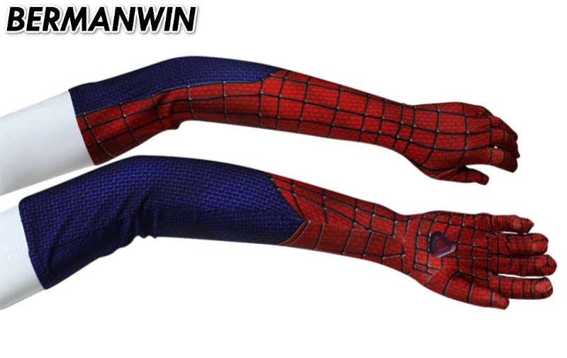 BERMANWIN High Quality Spiderman Sleeves Spiderman Gloves Spider-Man cosplay sleeves