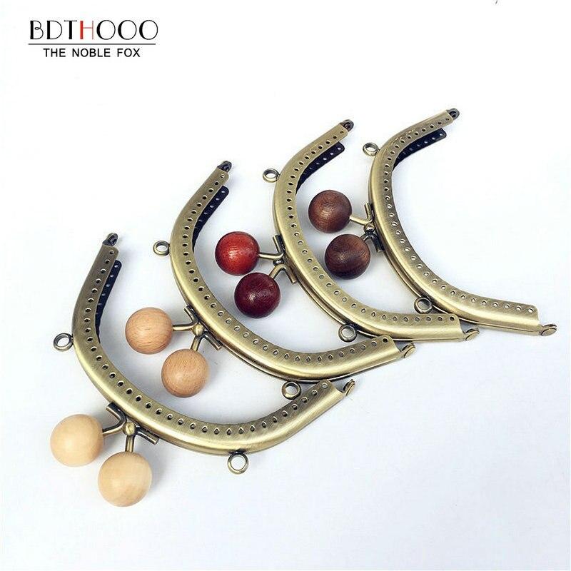 10pcs/ Lot 12.5cm Metal Purse Frame Clasp Handles For Coin Purses Clutch Handbag Accessories Bags Making Kiss Clasp Lock Bronze