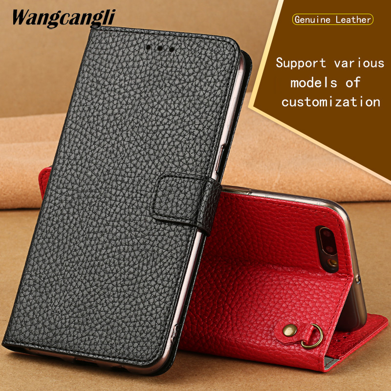 Oneplus 5t case lychee texture flip phone case handmade Genuine leather protection shell for Oneplus 3t 5 5t 6