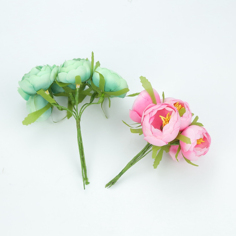 Hot Sale] 6pcs Silk tea buds roses wedding bridal