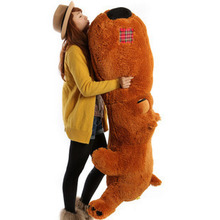 plush super huge big head dog toy brown lying unlucky dog doll pillow birthday gift about 160cm