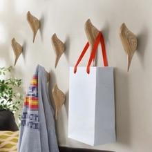 Купить с кэшбэком Birds Hanger Hook For Child's Room Decoration Creative Resin Model Bathroom Wall Hooks Housekeeper Sucker Hooks For Key Hanger