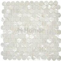 Free Shipping Pure White Fresh Water Shell Mosaic Mother Of Pearl Round Mosaic Tiles Kitchen Backsplash