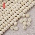 Atacado 108 Mala Porca Tagua Contas Oval Para Fazer Jóias Branco Marfim Natural De Madeira Rondelle Zen Budismo Oração Contas de Cura
