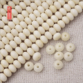 Wholesale 108Mala Tagua Nut Oval Beads For Jewelry Making  Ivory White Natural Wooden Rondelle Zen Buddhism Prayer Healing Beads