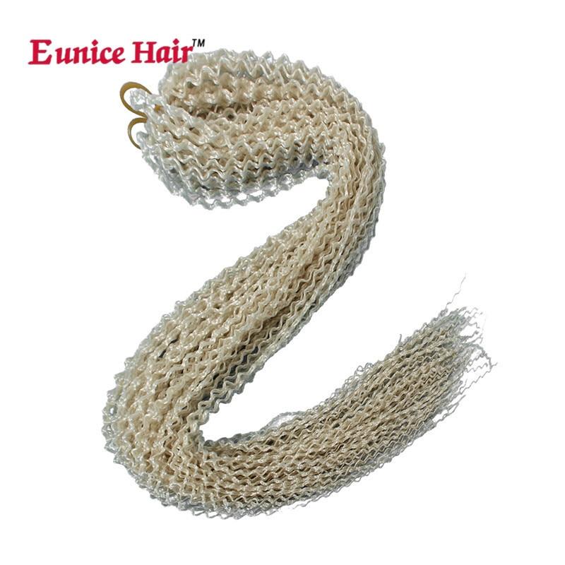 Eunice Synthetic Crochet Box Braids Thin Twist 28 Inch Zizi Braid 613 Hair #99j Blonde Box Braids Hair Extensions 28Roots/pack