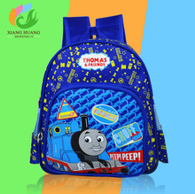 New cartoon Children backpacks Blue Color Thomas Train backpack for Kids Backpacks  youngsters schoolbag