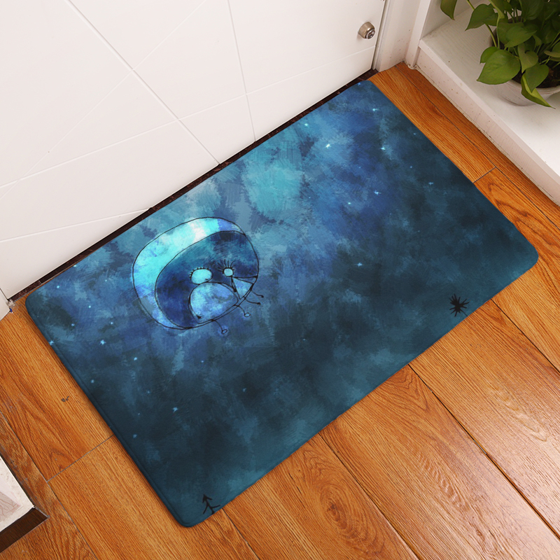 Cartoon Flannel Carpet Angel And Devil Printing Mat For Living Room 40x60cm  50X80cm Door mat Rectangle Tapete - us872 ad6db5b50a66