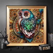 HUACAN Diamond Painting Full Square/round Owl 5D DIY Diamond Embroidery Mosaic Of Rhinestone Animal Christmas ,home decoration