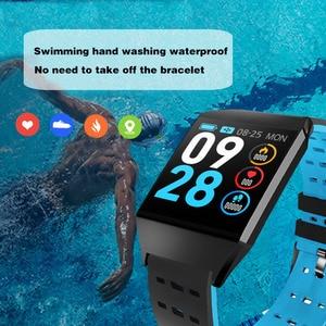 Image 2 - Wearpai W1C platz uhr led touchscreen herz rate überwachung blutdruck Schrittzähler fitness uhren Wasserdicht für Sport