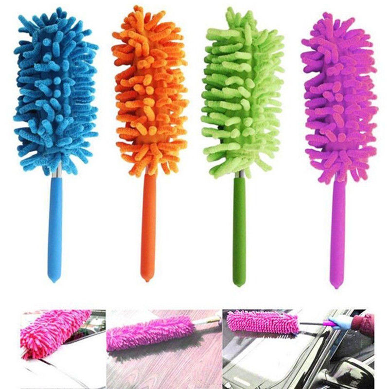 Extendable Telescopic Microfiber Window Car Household Cleaning Duster Brush Feather Style Extend Brush