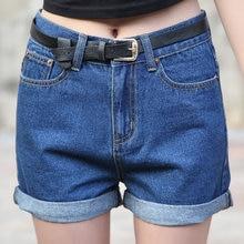 2016 летние новых Корейских женщин свободные код тонкий талией Джинсовые Шорты женский манжетой джинсы