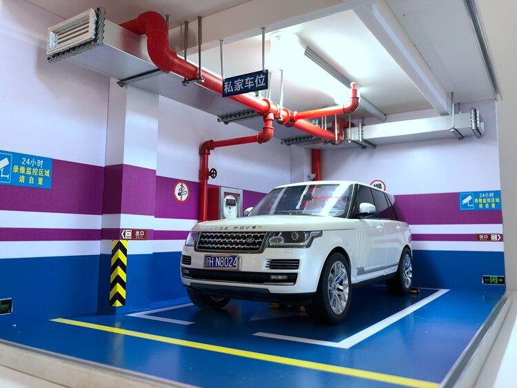 garagem estacionamento espaço brinquedos das crianças cena exibição