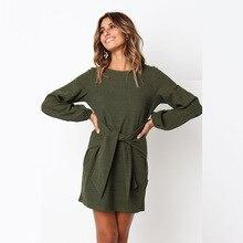 2019 Summer Autumn Dress Fashion Women Casual Loose Elegant